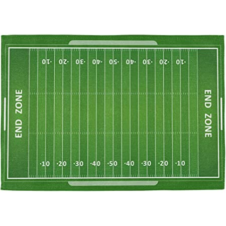 Amazon Com Wozo American Football Field Placemat Table Mat Green Grass 12 X 18 Polyester Table Place Mat For Kitchen Dining Room 1 Piece Home Kitchen