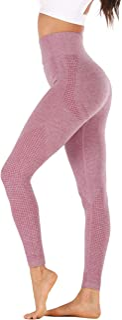 BASIC MODEL Women's Quick Dry Yoga Pant High Waist Running Workout Leggings Tummy Control