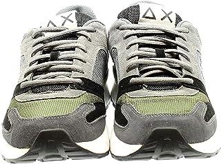 Sun68 Z29116 Sneakers con Lacci in CAMOSCIO E Tessuto da Uomo
