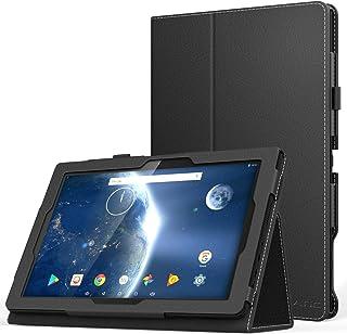 ATiC Dragon Touch X10 2018 advanced 10.1 インチ タブレット用全面保護型 薄型スタンドケース Dragon Touch X10 2017にも対応 BLACK