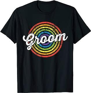 Groom Bachelor Party LGBT Same Sex Gay Wedding Husband T-Shirt
