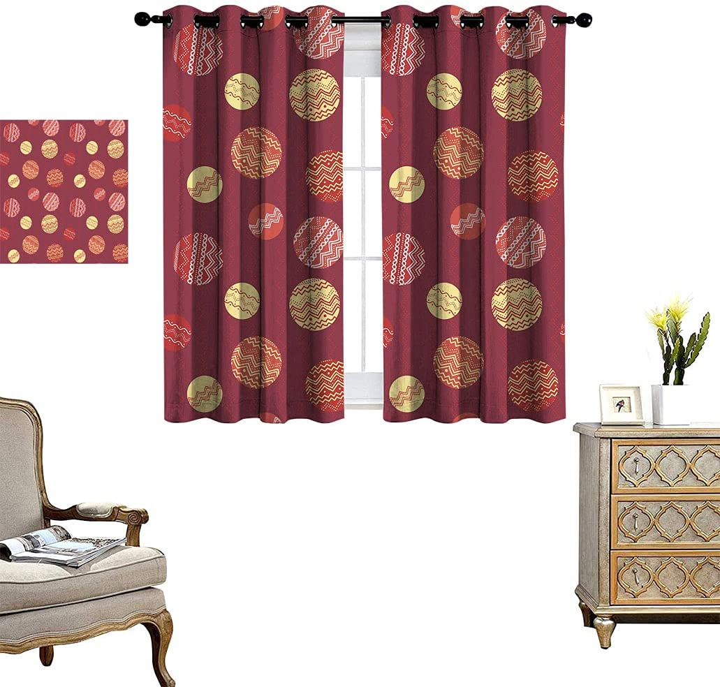 Circles Decor Gorgeous Blackout Window Drapes with Illustration Tampa Mall Abstract