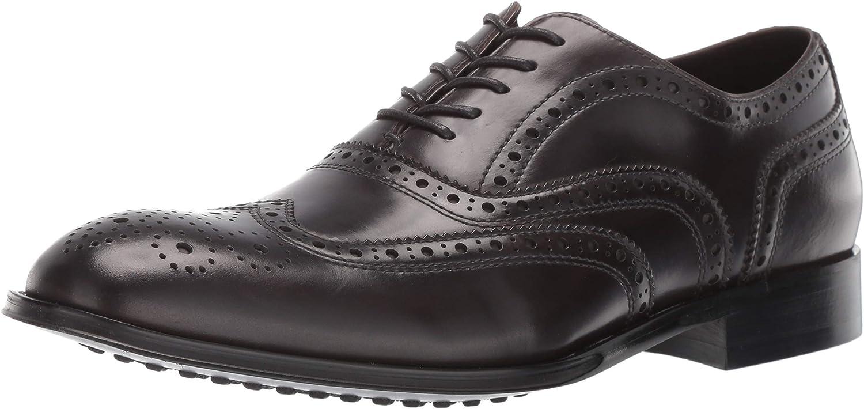 Kenneth Cole Design 10521 Men's Leather Oxford (7.5, Dark Grey)