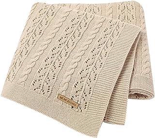 LAWKUL Neutral Baby Blankets Cotton Baby Girl Receiving Blankets Infant Swaddle Baby Blanket Newborn Gender Neutral Nurser...