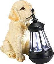 Innovatieve hond zonne-licht zonne-aangedreven schattige binnenlandse puppy beeldje tuin decoratie hars buiten interessant...