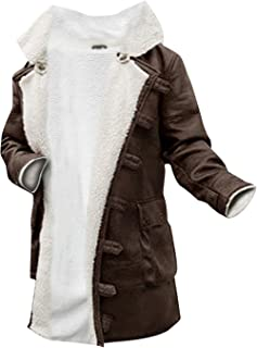 Bane Coat Antique Brown Synthetic Fur Leather Overcoat