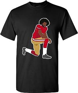 Beach Open Kaepernick 7 Kneel Stand Football Protest Kap Front & Back DT Adult T-Shirt Tee