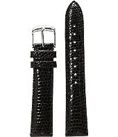 Michele - 18mm Black Lizard Watch Strap