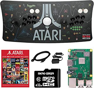 Atari Ultimate Arcade Fightstick USB Dual Joystick with Trackball 2 Player Game Controller Powered by Raspberry Pi 3B+ 1GB...