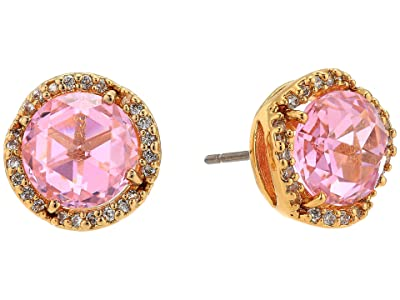 Kate Spade New York That Sparkle Pave Round Large Studs Earrings (Light Pink) Earring