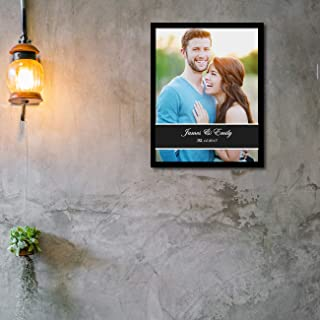 Art Street Personalized Wedding Date & Name Display Photo to Canvas Print Wall Art Print - Personalized Anniversary,Valent...