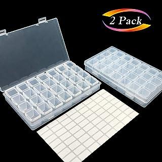 Aozer Embroidery 28 Grids Diamond Painting Box, Set 2