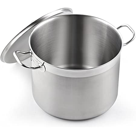 Cooks Standard Classic Lid 8-Quart Stainless Steel Stockpot, Silver,2584