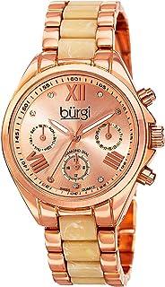 Burgi Women's Rose Gold Dial Alloy Band Watch - BUR130RGW