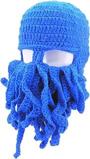 Octopus Winter Warm Knitted Wool Ski Face Mask Knit Beard Squid Beanie Hat Cap