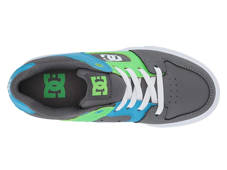 DC Kids Pure Elastic (Little Kid/Big Kid) (Grey/Green/Blue) Boys Shoes, Multi