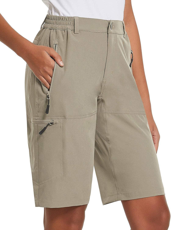 BALEAF Women's 新色追加 Quick Dry Stretch Lightweight Cargo Shorts Hiking 永遠の定番