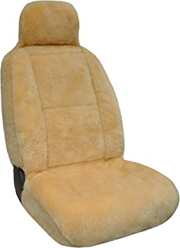 Eurow Sheepskin Seat Cover, 56 by 23 Inches, Champagne: image