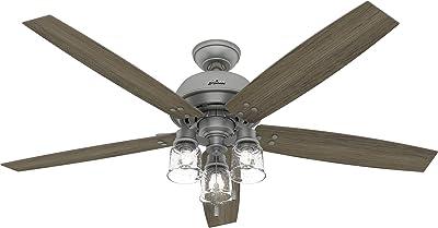 Hunter Fan Company 51199 Churchwell Ceiling Fan, 60, Matte Silver