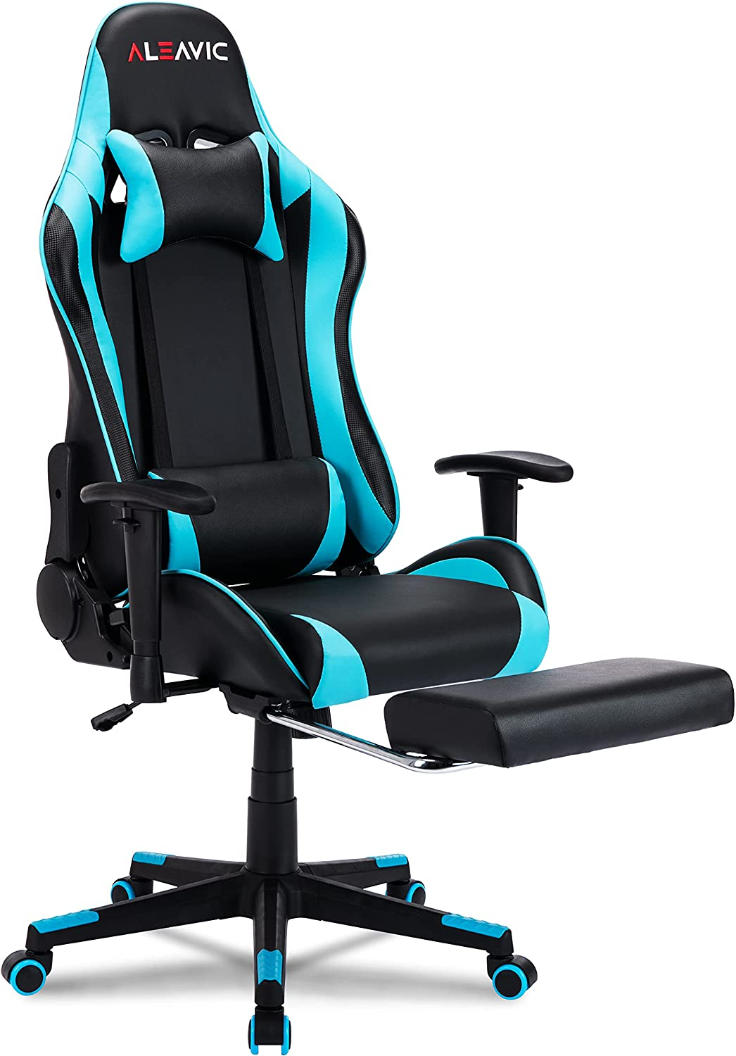 ALEAVIC Gaming Chair with Footrest Ergonomic Adjustab High Charlotte Mall All stores are sold Back