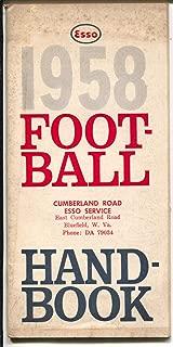 1958 Football Handbook-Esso-NCAA-NFL-schedules-stats-etc-VG