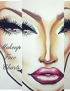 Makeup Face Charts:: A Professional Makeup Artist Blank Paper Practice Face Chart