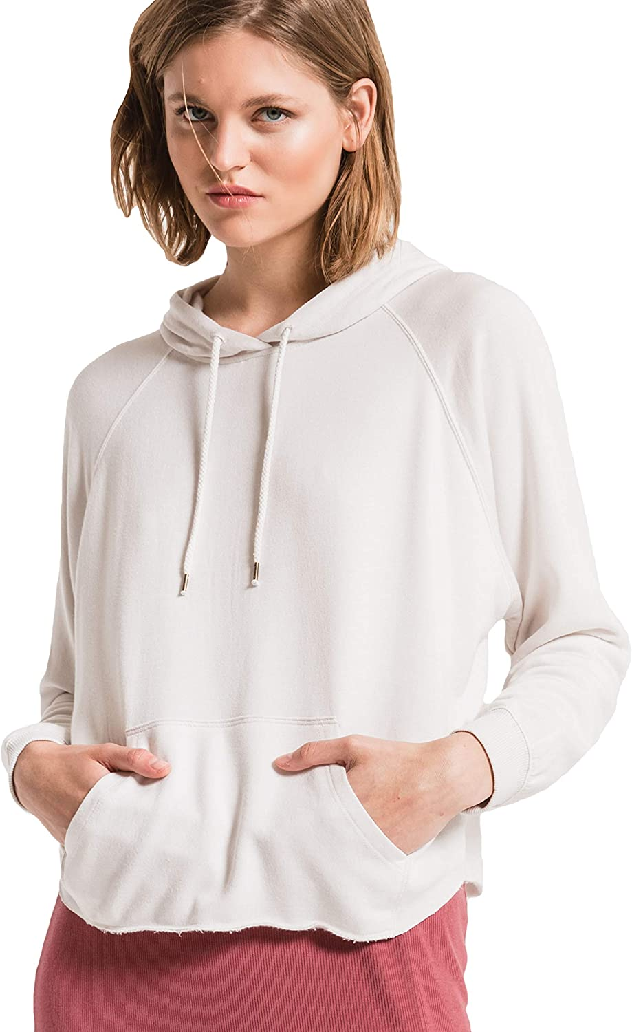 Z Supply NEW before selling ☆ Colorado Springs Mall ZT194172 The Premium Champagne Dolman Hoodie in Fleece