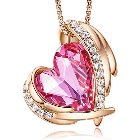 Charm Girls Women /'s Heart Pendant Long Necklace Crystal Party Costume Gifts NEW
