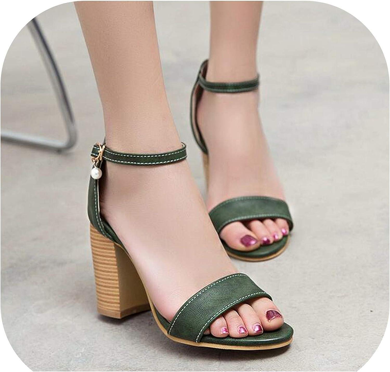 Alerghrg Fish Mouth Women's Sandals Female High Heels shoes Platform Word Buckle d1016