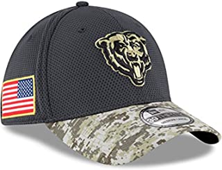 New Era Authentic Chicago Bears Mens NFL 2016 Salute to Service 39Thirty Flex Fit Hat (Large/XLarge) Camo - L/XL