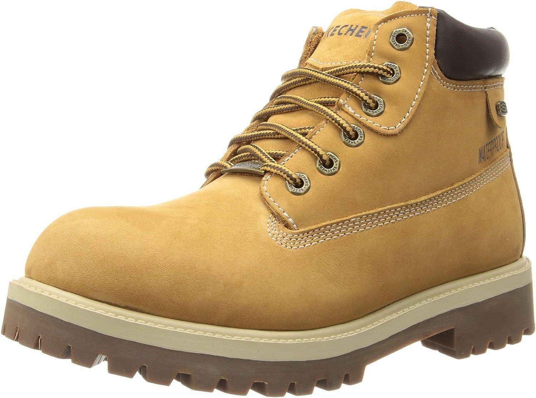Skechers Men's Denver Mall Sargeants-Verdict Elegant Waterproof Ankle Bootie Boot