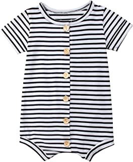 Infant Newborn Baby Boys Girls Romper Bodysuit Jumpsuit Outfits Overalls Clothes 0-24 M