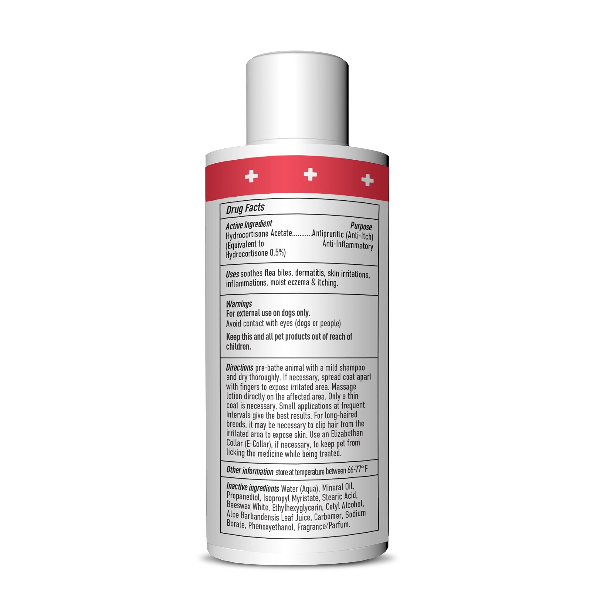 DOGSWELL Remedy + Recovery 0.5% Hydrocortisone Lotion for Dogs, 4 oz. (Packaging May Vary)
