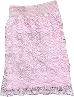 Doufine Womens Oversized Highwaist Plain Lace Stiching Body Enhancing Skirt