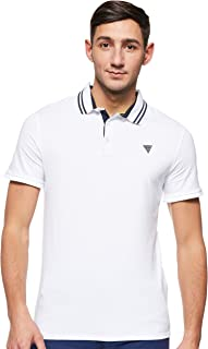 GUESS Men's Amias Small Sleeve Polo Knit Top