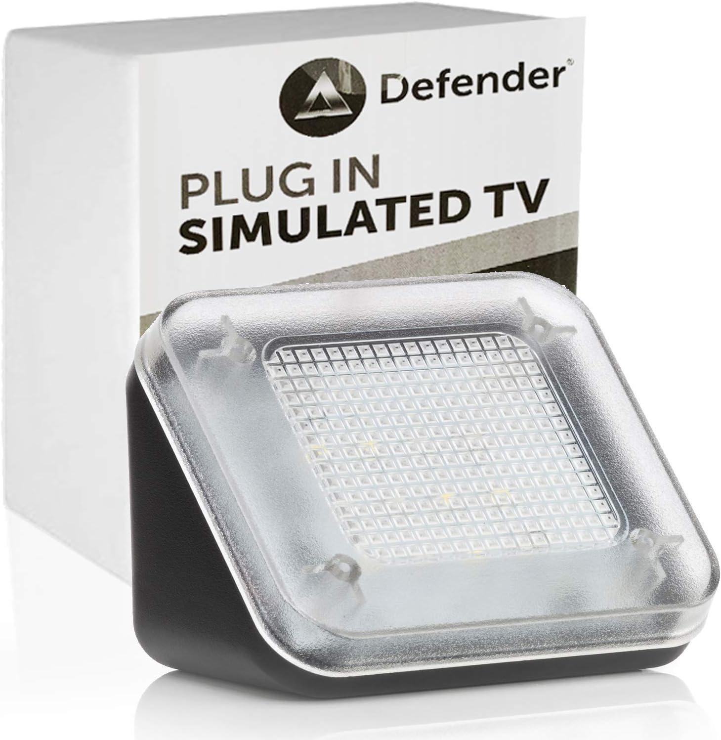 Fake-Fernseher-Simulator TV-Simulator schwarz Diebstahlschutz mit Timer und Lichtsensor