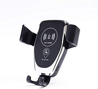 HUILIANG Wireless Charger Car Mount, One-Hand Auto Clamping Air Vent Phone Holder, 10W Fast Charging for Samsung Galaxy S9 S8 S7 Note 8. 7.5W Compatible with iPhone Xs XR X 8 and Qi Enabled Devices.