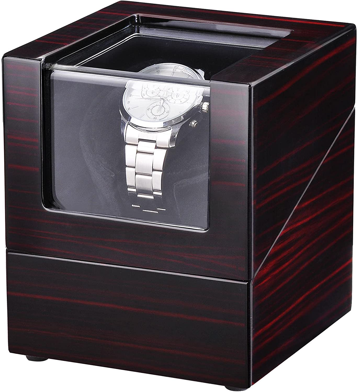 Yescom National products Automatic Single Watch Max 50% OFF Winder Box Wooden Ro Display