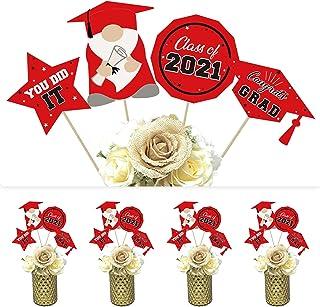 DazongeGraduationPartySupplies2021-Classof2021CongratsGradCenterpieceSticks -Red&BlackGraduationTableDec...