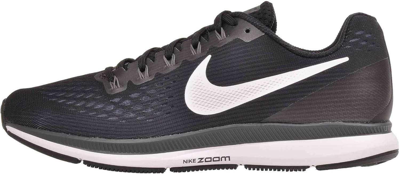 Nike Womens Air Zoom Pegasus 34 (W), Black White-Dark Grey