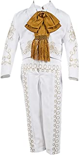 Special Occasion Charro Suit (5, White/Gold)