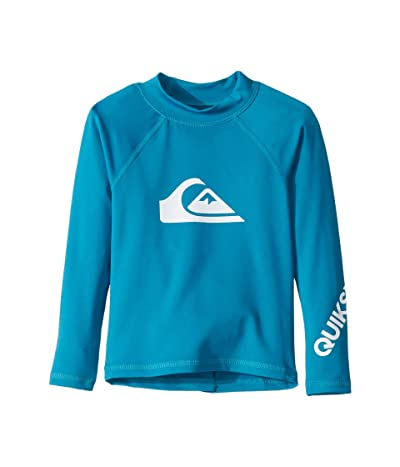 Quiksilver Kids All Time Long Sleeve Rashguard (Toddler/Little Kids) (Crystal Teal) Boy
