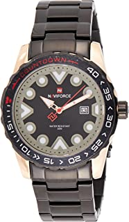 Naviforce Men's Black Dial Stainless Steel Analogue Classic Watch - NF9178-RGB