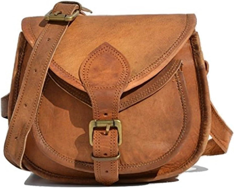 Handcraft's Pure Leather Vintage Brown Sling Bag   Crossbody Bag   Satchel Bag for Women