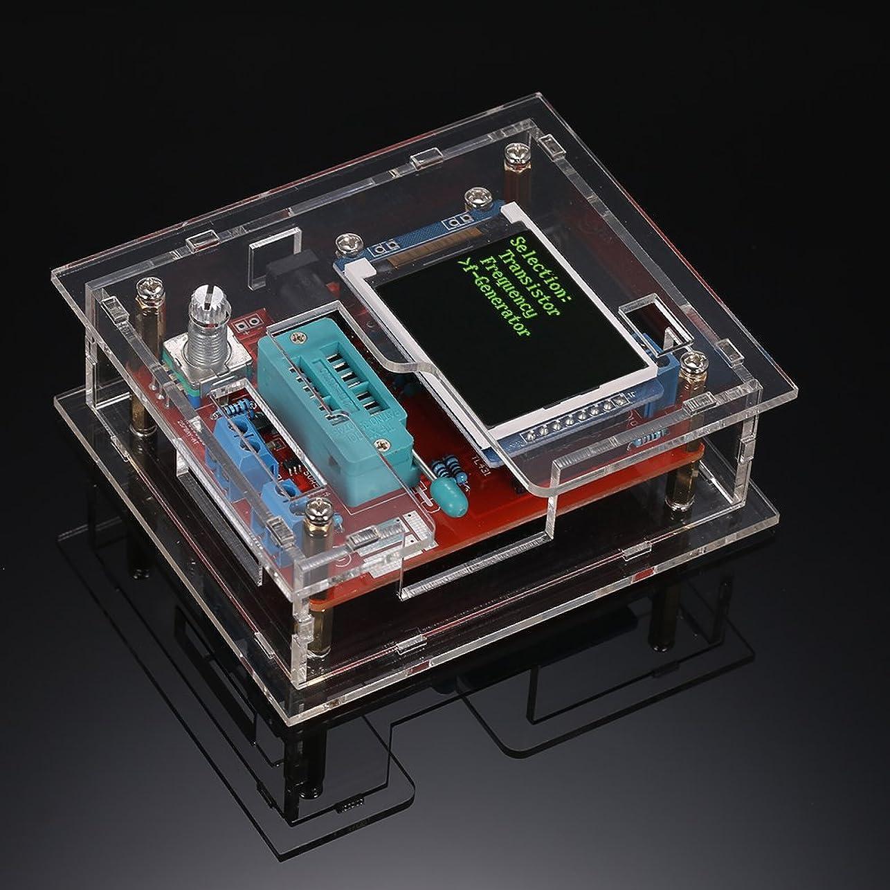 サルベージ卵歪めるVuage(TM) GM328マルチユースLCDトランジスタテスターDIYキットダイオード静電容量電圧計PWM方形波信号発生器+ DIYアクリルケース