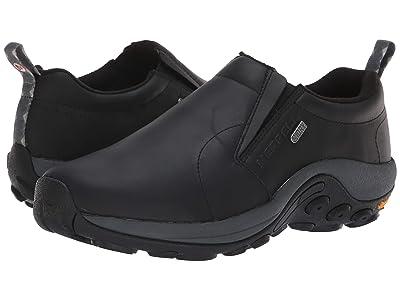 Merrell Jungle Moc Leather Waterproof Ice+ (Black) Men