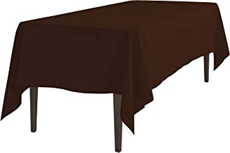 LinenTablecloth Rectangular Polyester Tablecloth Chocolate