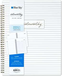 Blue Sky Noteworthy 2018-2019 Academic Year Weekly & Monthly Premium Planner, Flexible Cover, Twin-Wire Binding, 8.5