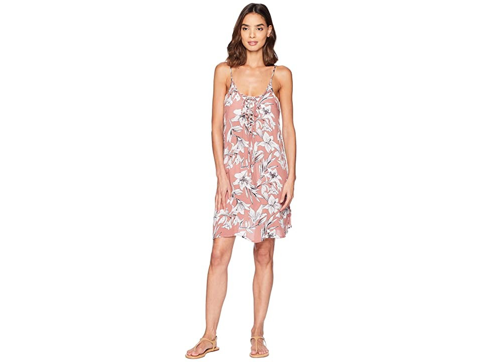 6d0935dbb6 Roxy Softly Love Printed Dress Cover-Up (Withered Rose Lily House) Women s  Swimwear
