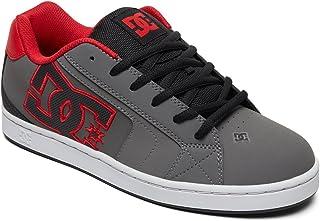 DC Men's NET Skate Shoe, grey/black/grey, 9.5 D M US